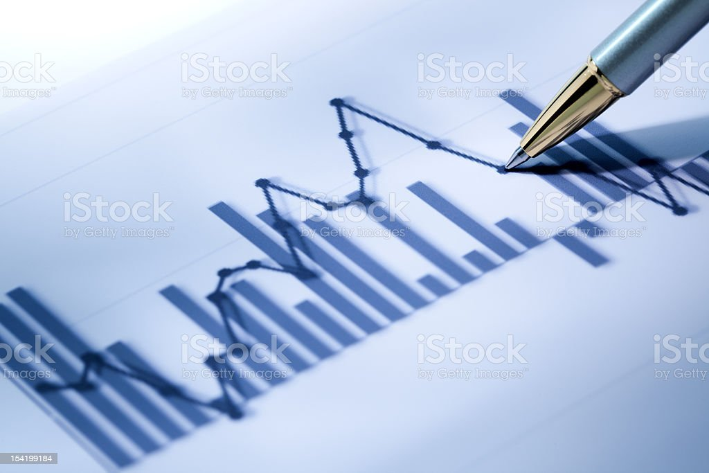 Business data royalty-free stock photo