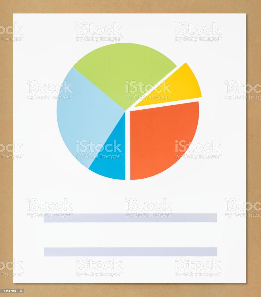 Business data pie chart icon royalty-free stock photo