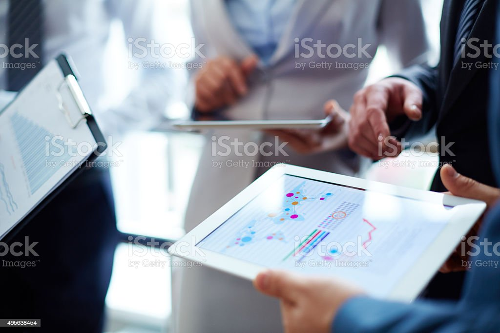 Business data visualization stock photo
