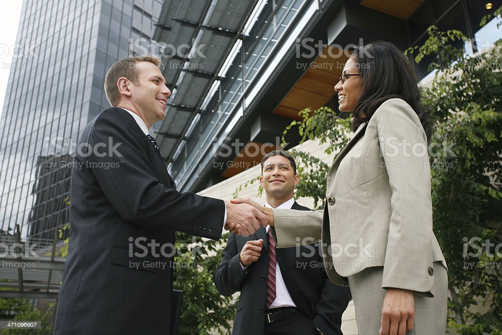 Business deal with diversity royalty-free stock photo