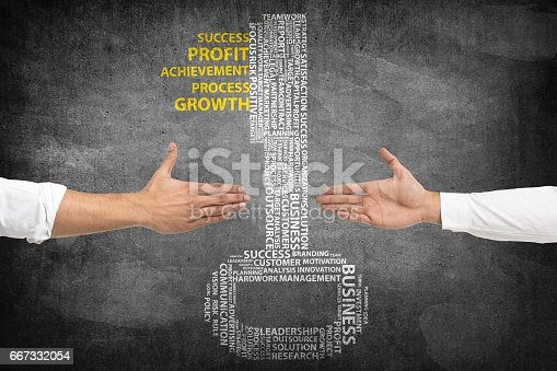 istock Business deal with key to success 667332054