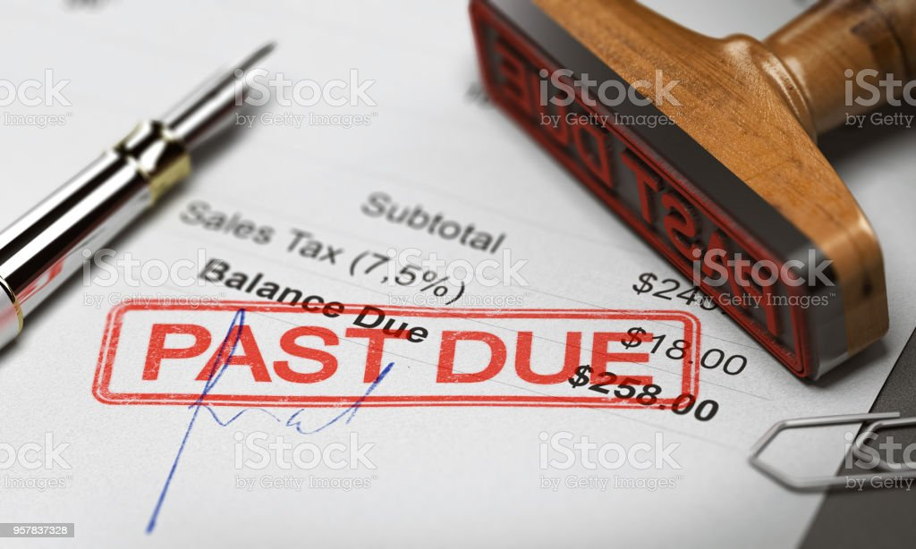 Business Debt Collection or Recovery. Unpaid Invoice stock photo