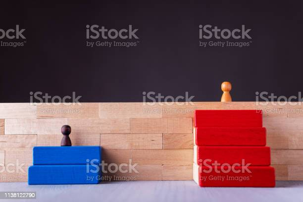 Business Decision Career Path Choice Or Strategy Concept Of Inequal Career Opportunities Stock Photo - Download Image Now