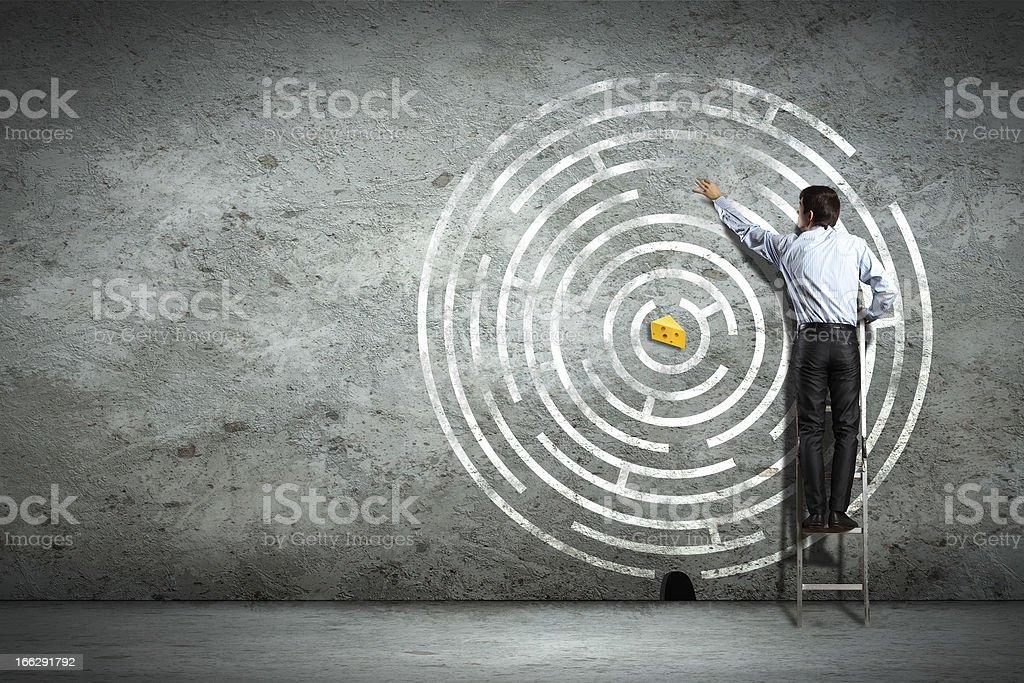 Business decision making royalty-free stock photo
