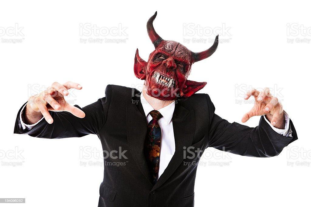 Business demon royalty-free stock photo