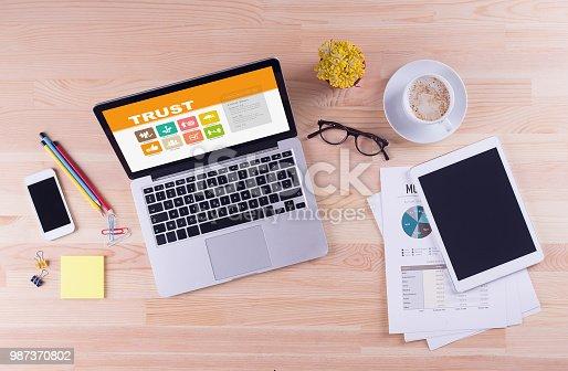 939533958istockphoto Business desk concept - Trust 987370802