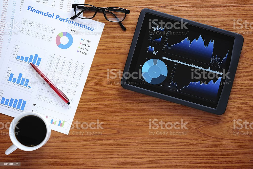 Business desk royalty-free stock photo