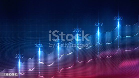 istock Business development to success and growing growth concept, Financial graph. 1139805882