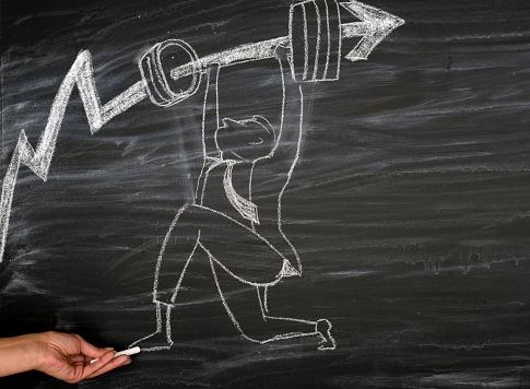 Bedrijfsontwikkeling Aan Succes En Toenemende Groei Concept Stockfoto en meer beelden van Advies