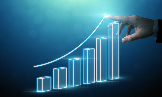 884650780 istock photo Business development to success and growing growth concept, Businessman pointing arrow graph corporate future growth plan 1125633704