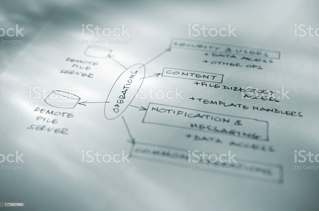 business diagrams royalty-free stock photo