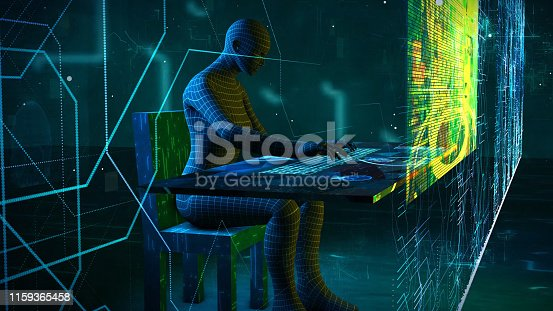861122794 istock photo Business digital people using PC and   GUI graphical user interface  information communication technology concept.  paperless office.  IoT Internet of Things 1159365458