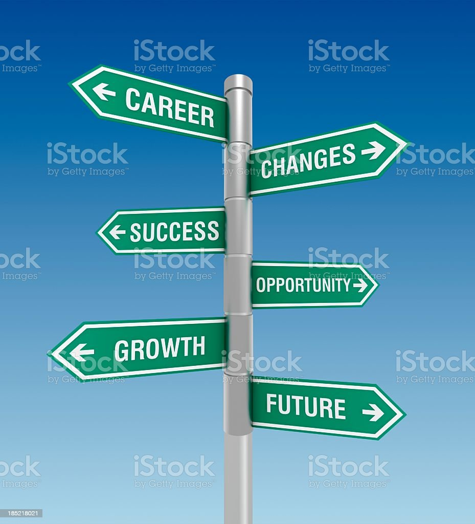 Business direction signs stock photo