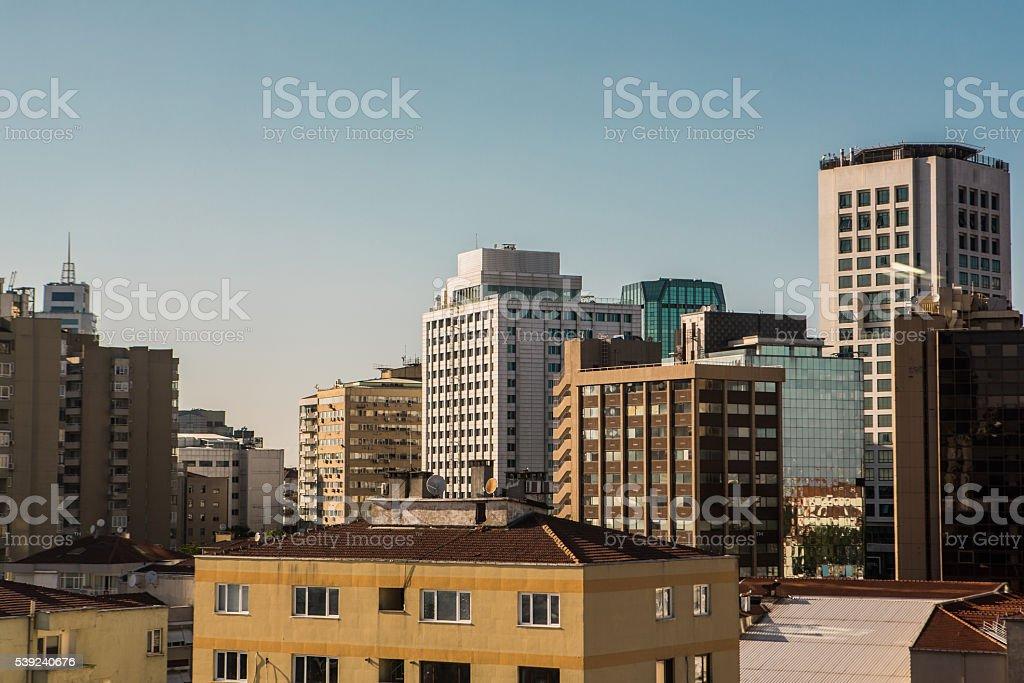 Negocios discrict, Istanbul-Imagen de Valores foto de stock libre de derechos