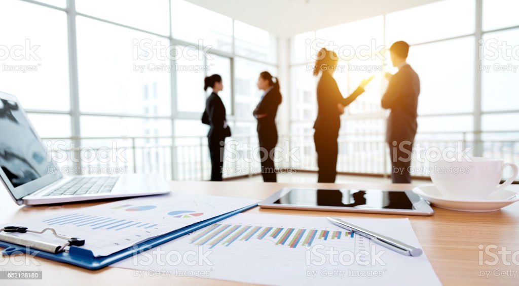 Business discussing stock photo