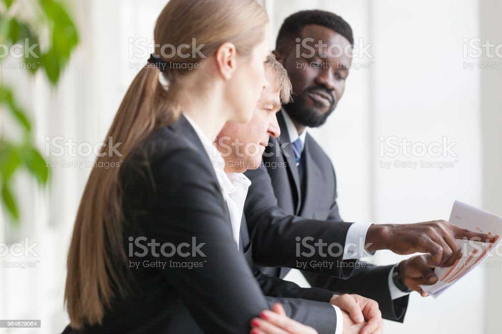 Business Discussion at the lobby royalty-free stock photo