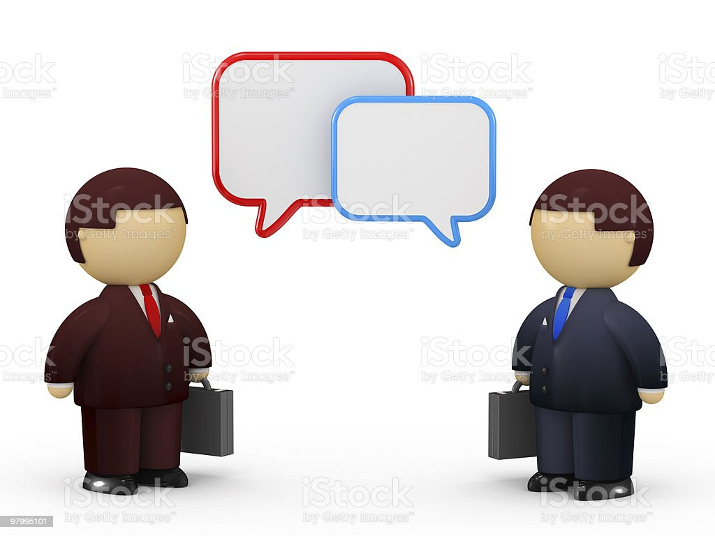 Business discussion royalty free stockfoto