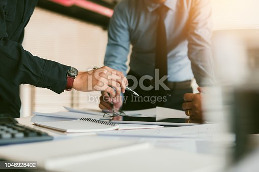 885956164istockphoto Business discussion to work together in office room. 1046928402