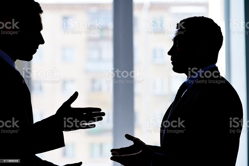 Business dispute stock photo
