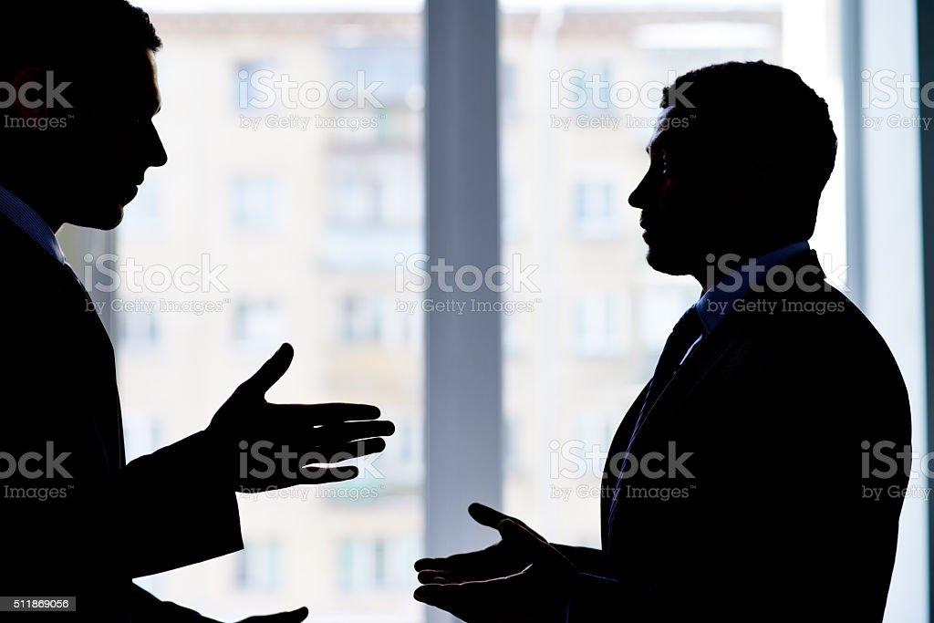 Business dispute stock photo