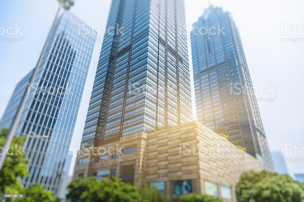 business district and green foto royalty-free