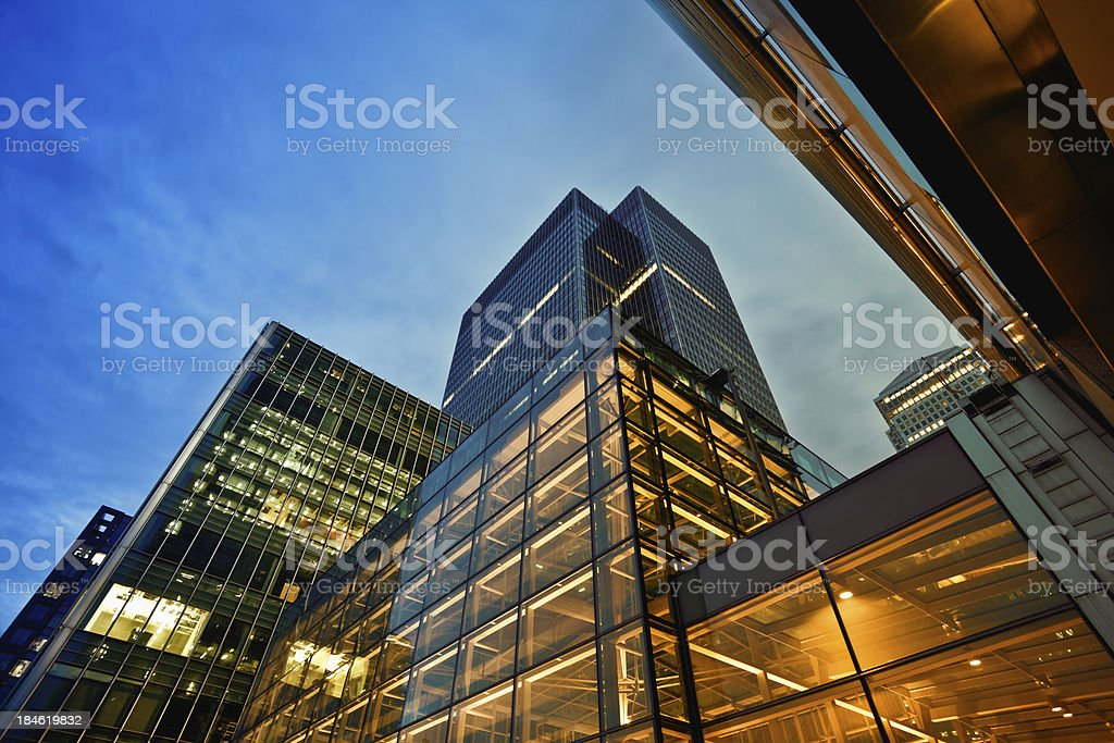 Business District at Dusk, London royalty-free stock photo