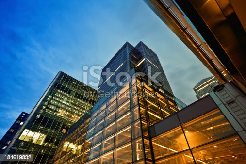 istock Business District at Dusk, London 184619832
