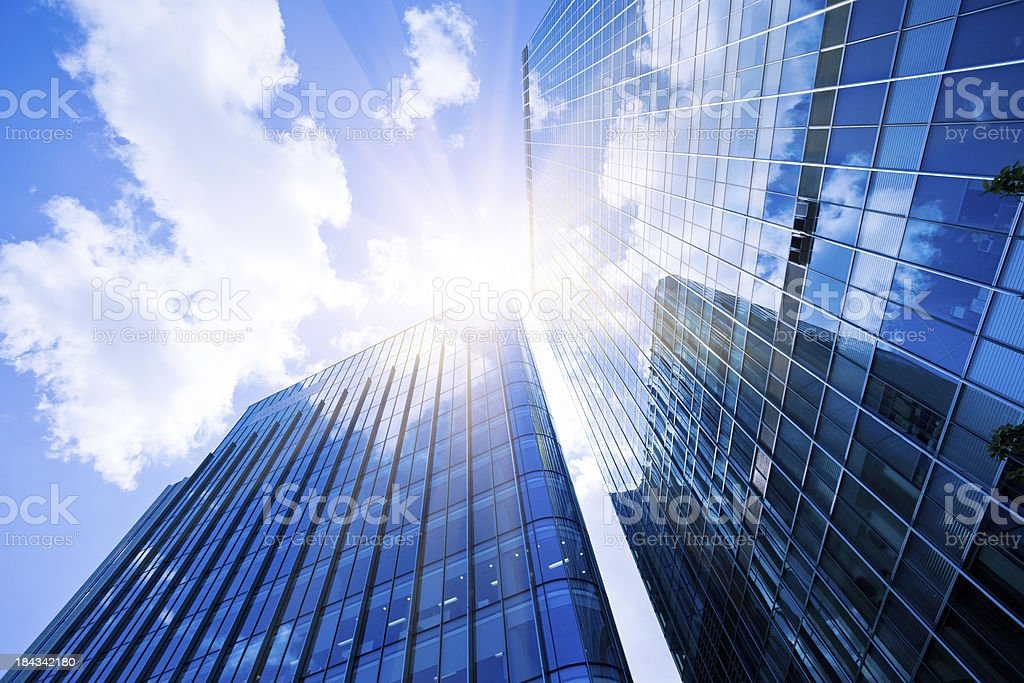 Business District, Corporate Buildings in London stock photo