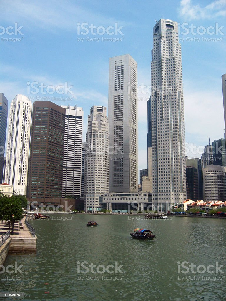 Business district in Singapore royalty-free stock photo