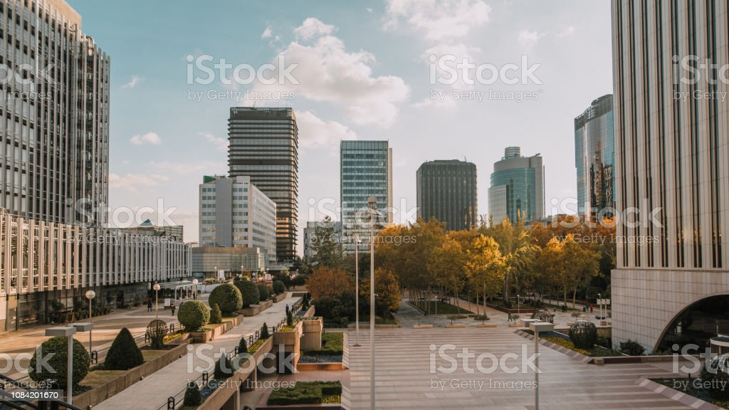 Business district - foto stock