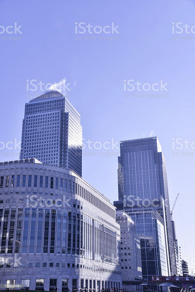 Business District Skyscrapers stock photo