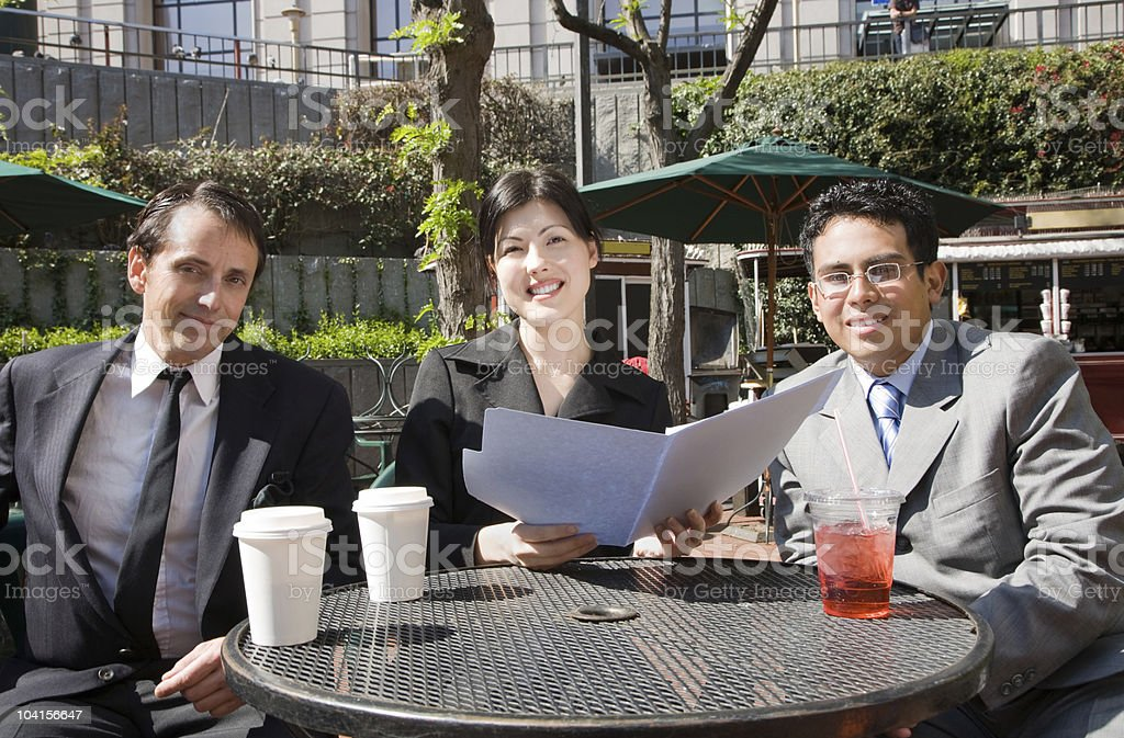Business document at outdoor cafe royalty-free stock photo