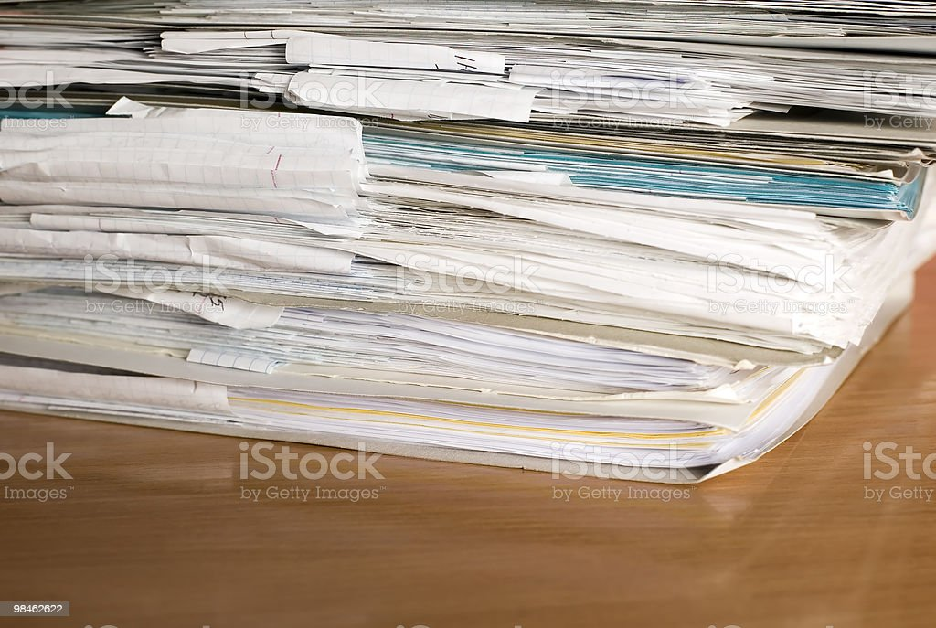Business documents, finance royalty-free stock photo