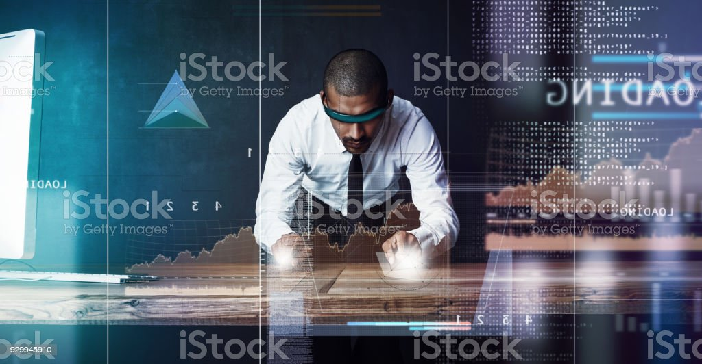 Business done right in his domain stock photo