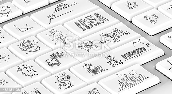 istock Business doodles on keyboard 465431138