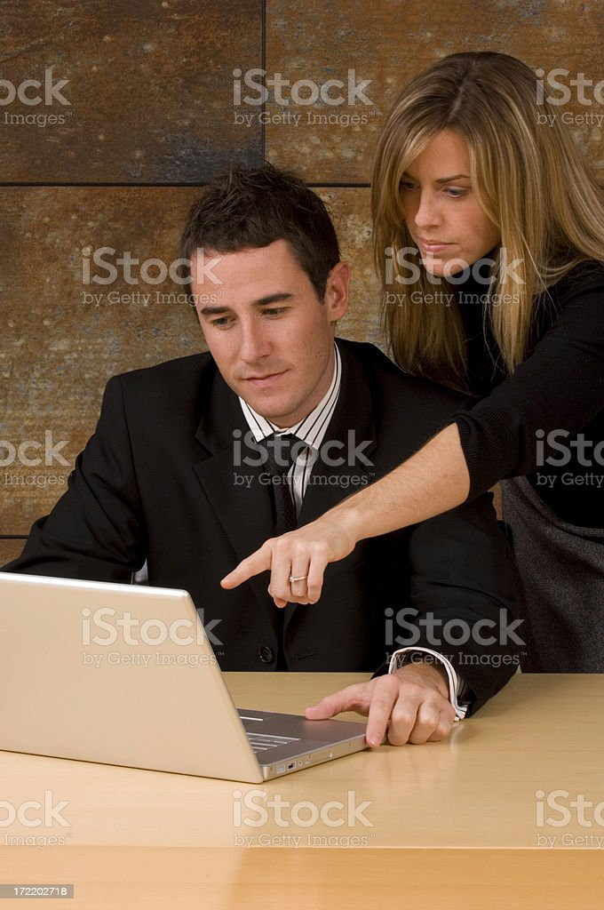 Business Duo in Office Building royalty-free stock photo