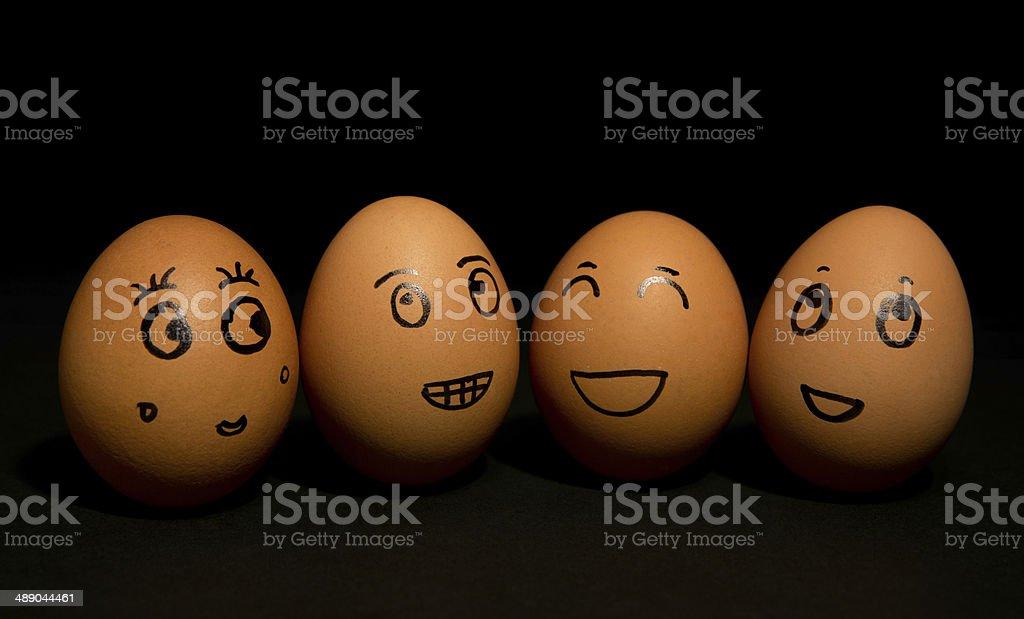 Business eggs stock photo