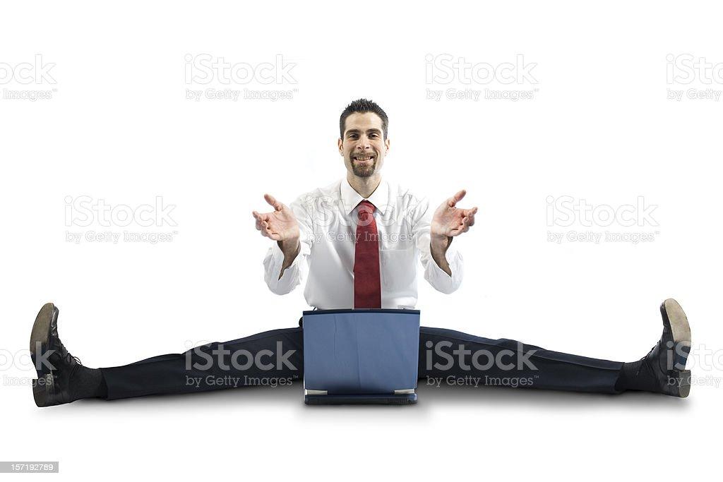business elastic man royalty-free stock photo