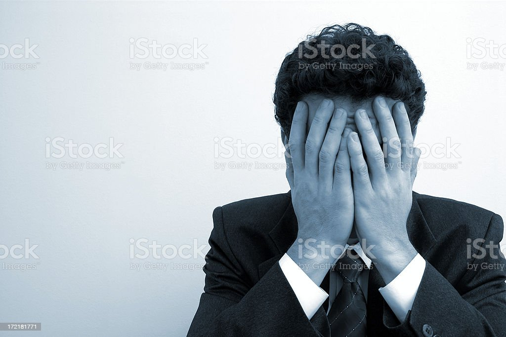 Business emotions - Trouble #2 royalty-free stock photo