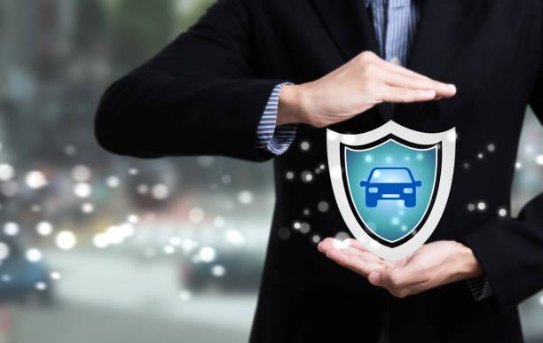 Geschäftsangestellte Customer Care Konzept Kfz-Versicherung zu schützen. – Foto