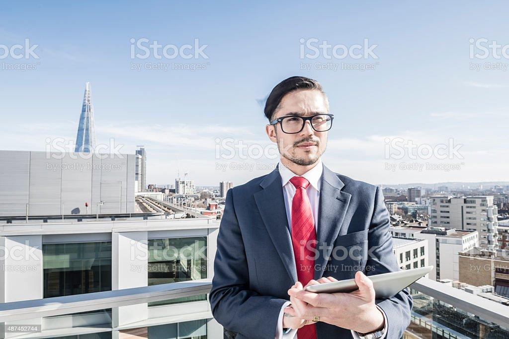 Business entrepreuneur im Zentrum von London Lizenzfreies stock-foto