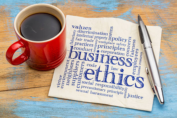 business ethics word cloud - social issues stock pictures, royalty-free photos & images