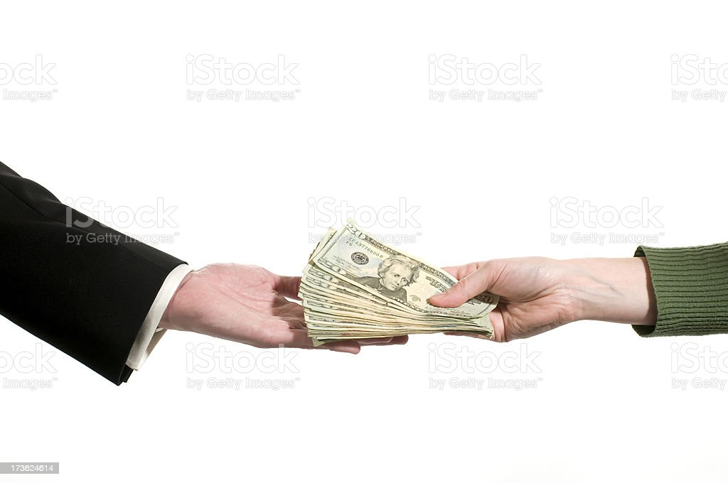 business exchange in between two people royalty-free stock photo