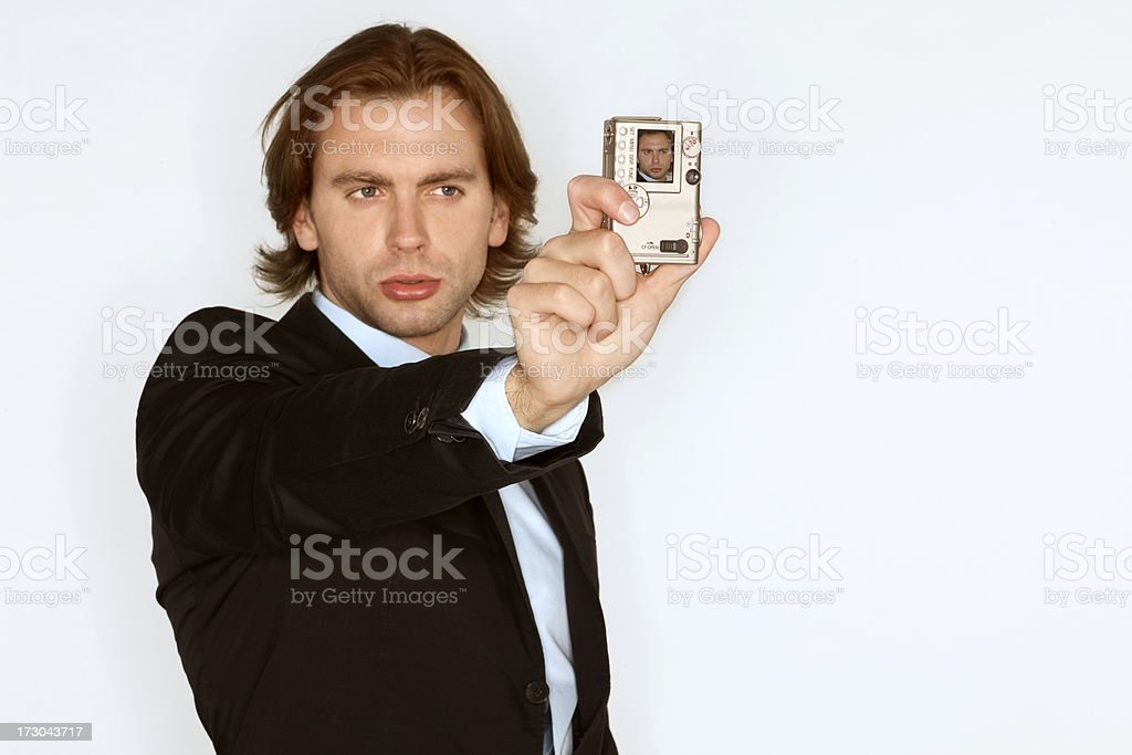 Business executive pouts at the camera royalty-free stock photo