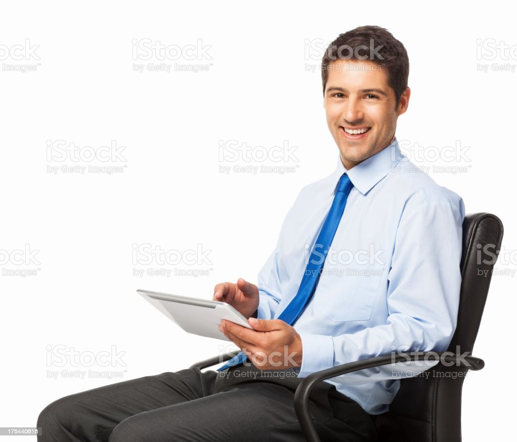 Business Executive Using Digital Tablet - Isolated royalty-free stock photo