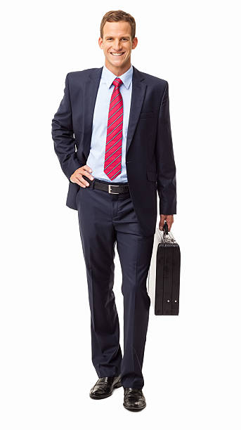 Business Executive With Briefcase - Isolated stock photo