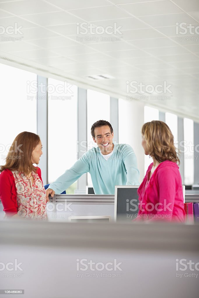 Business executives in a casual meeting at office royalty-free stock photo
