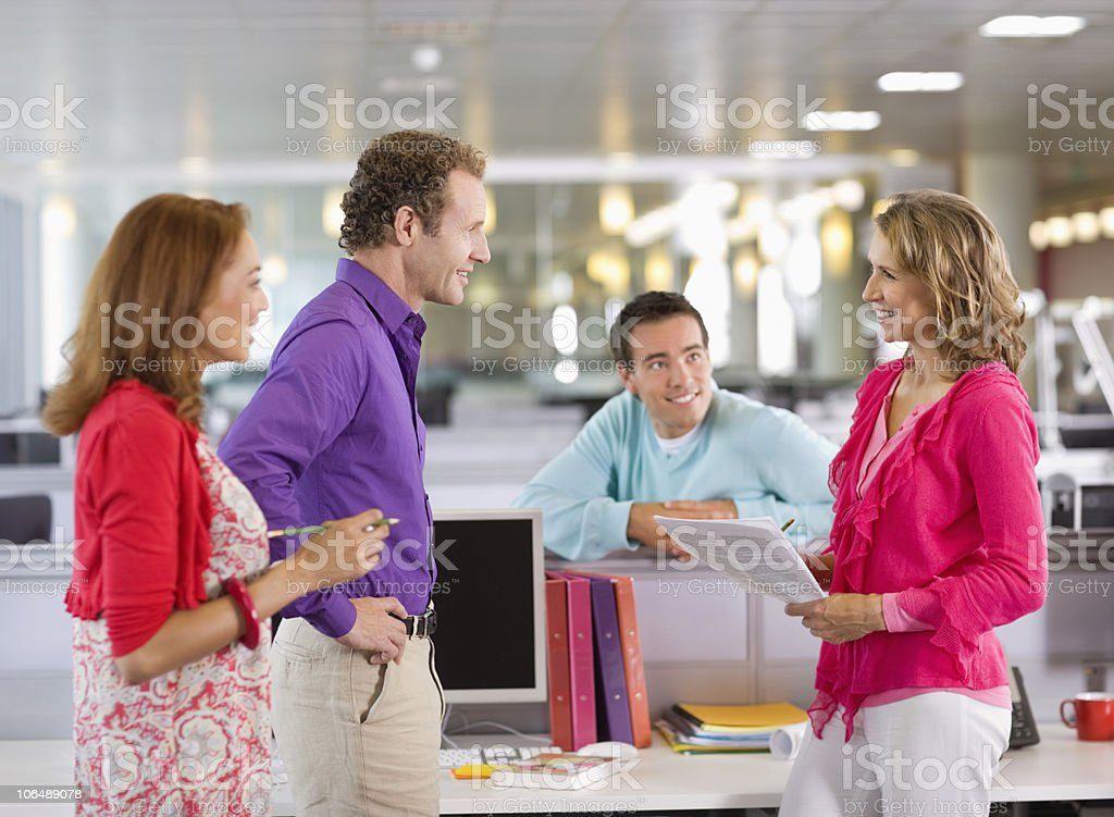 Business executives in a meeting at office royalty-free stock photo
