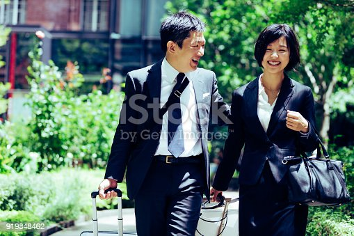 istock Business executives making their way to the hotel 919848462