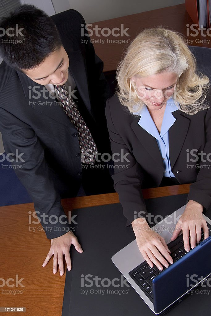 Business Executives Working royalty-free stock photo